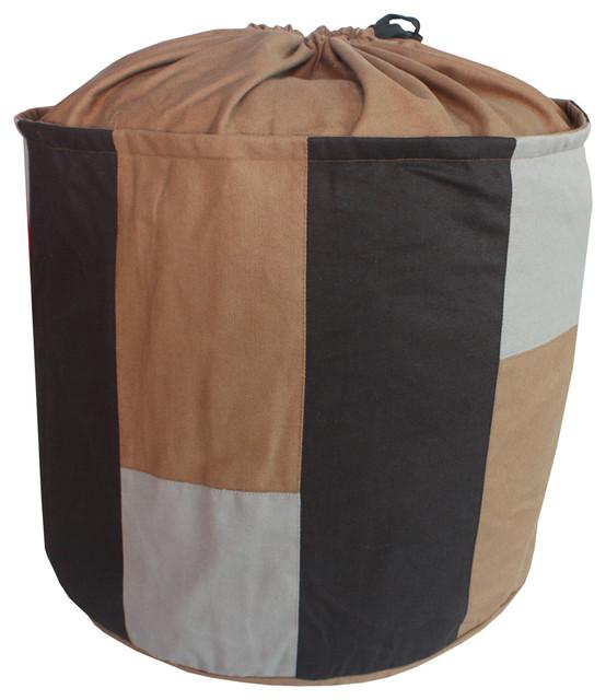 Coffee Canvas Foldable Laundry Basket Storage Bag Toy Organizer.