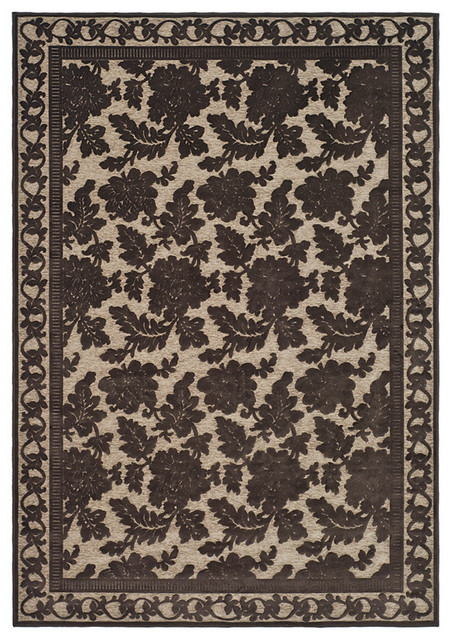 Small Rectangular Rug In Light Brown 5 Ft 7 In L X 4 Ft