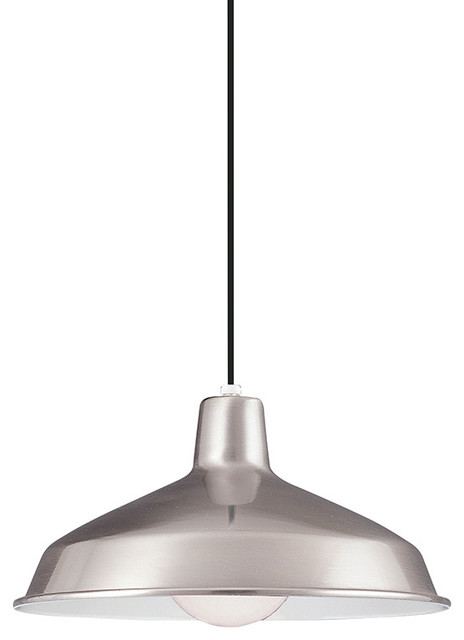 Led Pendant, Brushed Stainless.