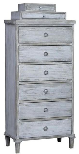 Koons Dark Blue Dresser Chest Of Drawers.