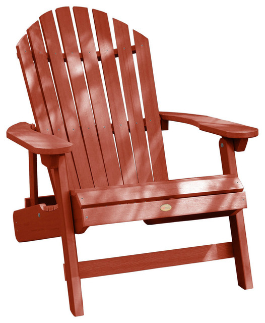King Hamilton Folding/Reclining Adirondack Chair, Rustic Red