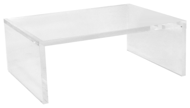 Contemporary Acrylic Coffee Table