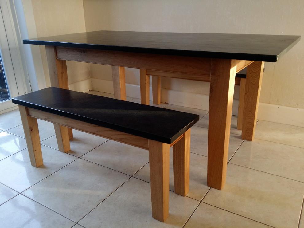 Oak & Slate Dinning Table