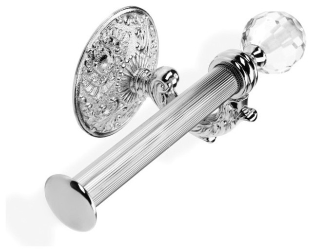 High End Wall Mounted Crystal Glass Toilet Roll Holder