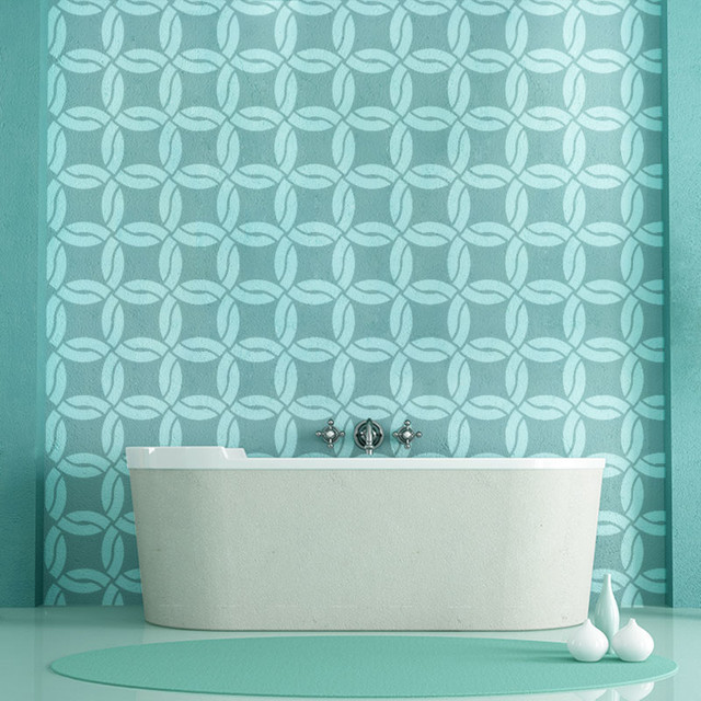 Chain Rope Pattern Wall Stencil for Painting - Contemporary - Wall ...