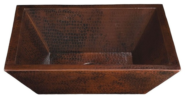 Diego Ii Rectangular Handcrafted Copper.