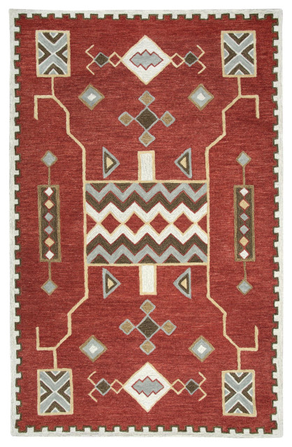 Rizzy Rugs - Mesa MZ160B - 5ft 0in x 8ft 0in Rustic Red