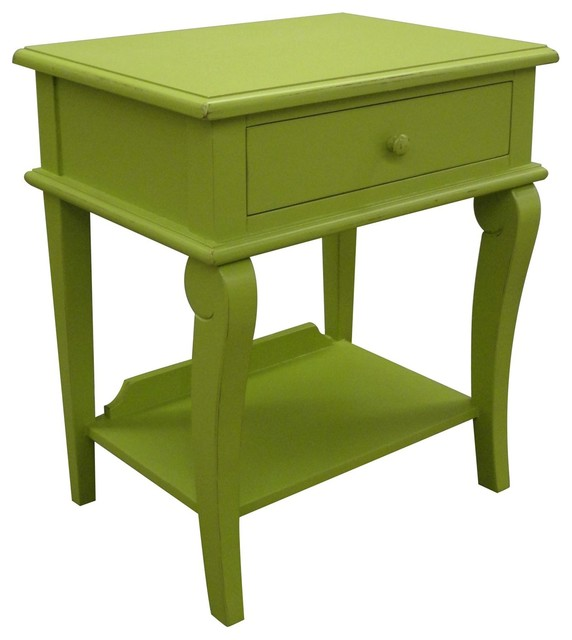 Delightful Trade Winds Side Table Green Painted Traditional Side Tables And End