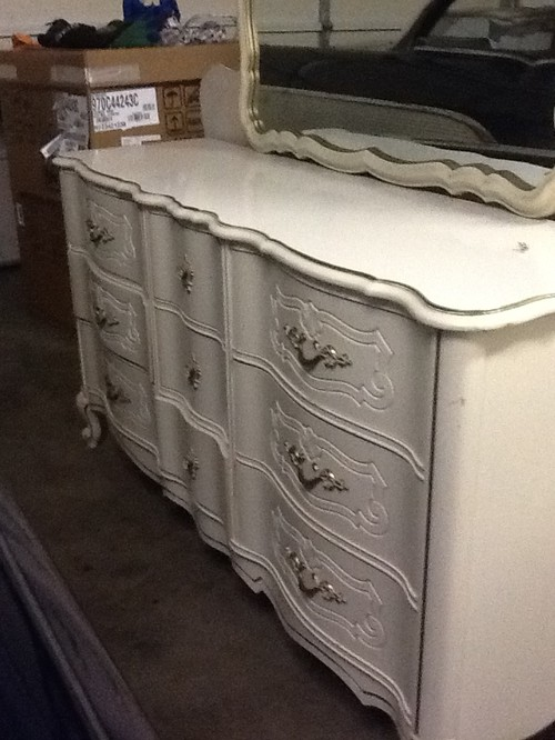How to refinish my French provincial bedroom set.