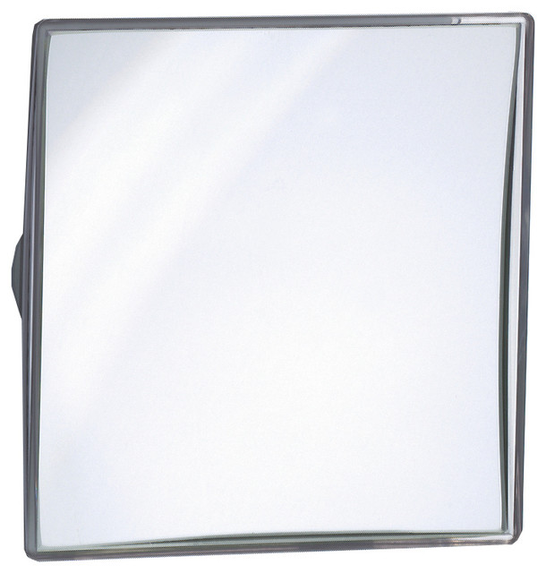 Wall Suction Cosmetic Makeup Magnifying Mirror Silver