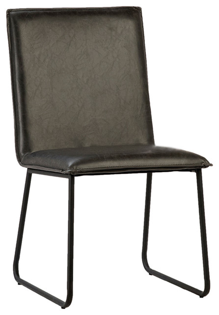 Tremendous Modern Black Leather Dining Chair Squirreltailoven Fun Painted Chair Ideas Images Squirreltailovenorg