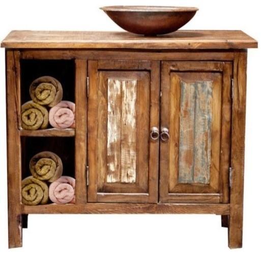 Havana Rustic Vanity With Storage 36 X20 X32 Single Sink
