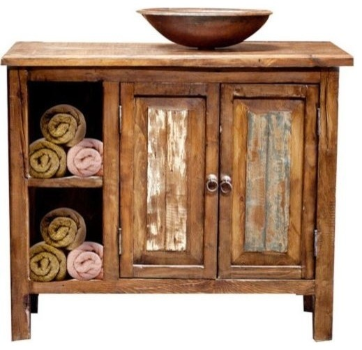 Rustic Vanity With Storage Farmhouse Bathroom Vanities And Sink Consoles By Foxden Decor