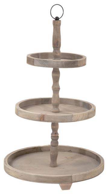 3 Tier Wooden Tabletop Display
