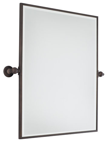 Pivoting Bathroom Mirror Traditional Mirrors