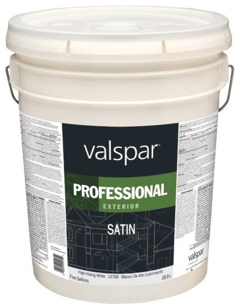 Valspar Professional 100 Acrylic Satin Exterior House Paint Paint By Hipp Modern Builders