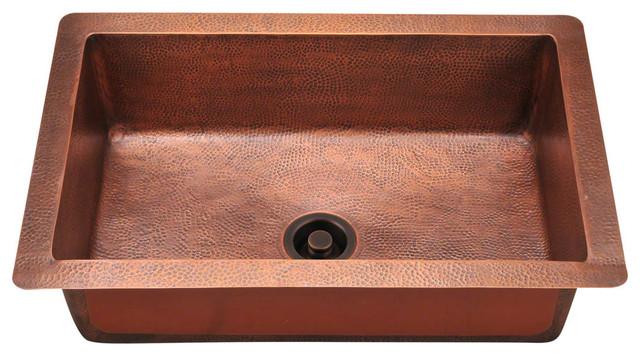 Single Bowl Copper Sink, Sink Only.