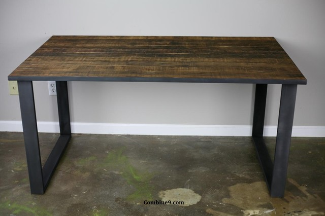 Marvelous Dining Table/ Desk Modern Industrial, Mid Century, Rustic Modern