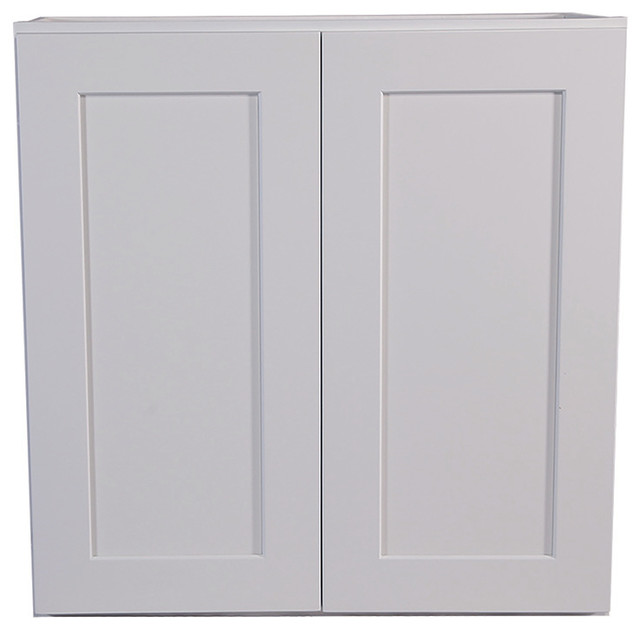 """Brookings 30"""" Fully Assembled Kitchen Wall Cabinet, White Shaker."""