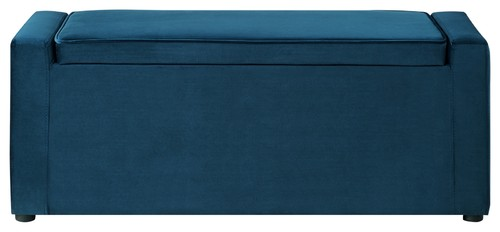 ter Velvet Upholstered Shoe Storage Bench, Navyter Velvet Upholstered Shoe Storage Bench, Navy