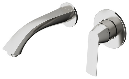 VIGO Aldous Wall Mount Bathroom Faucet, Brushed Nickel