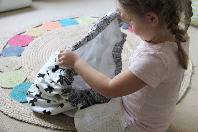 DIY: Spielzeugsack und Spieldecke in einem zum Selbernähen