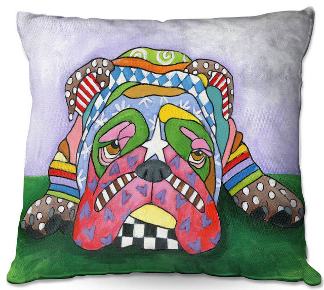 Dianoche Throw Pillows By Marley Ungaro Sad Blue English