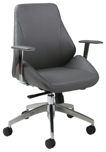 Pastel Isobella Office Chair Chrome And Aluminum Contemporary - Grey office chair