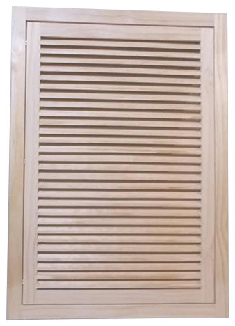 """Wood Return Air Filter Grille, 20""""x30"""", Standard Square Edge."""