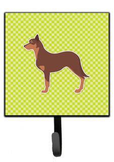 Australian Kelpie Dog Checkerboard Green Leash/Key Holder Bb3829Sh4 - Contemporary - Wall Hooks ...