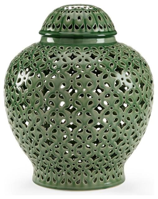 Jar CHELSEA HOUSE Green Fired Ceramic New