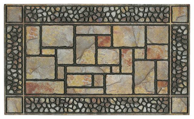 Mohawk Home Doorscapes Manor Mat Patio Stones, 1&x27; 7.5x3&x27; 11.