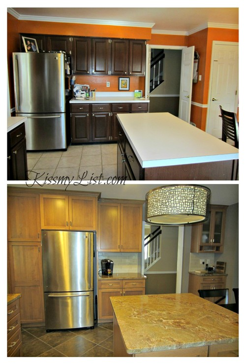 Complete kitchen remodel before and after for Complete kitchen remodel