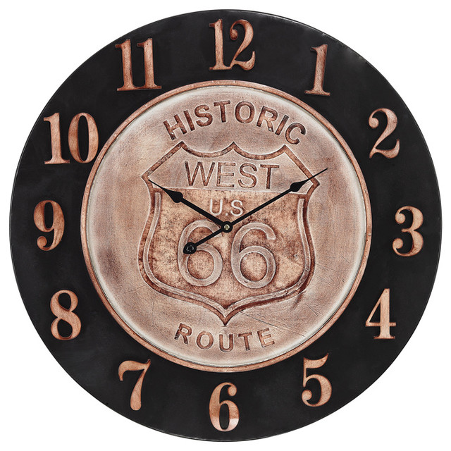 americana clock in bronze and aged parchment rustic wall clocks by lighting new york