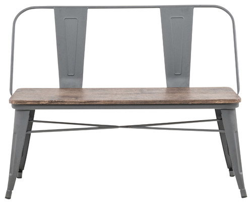 Industrial Double Bench, Gray