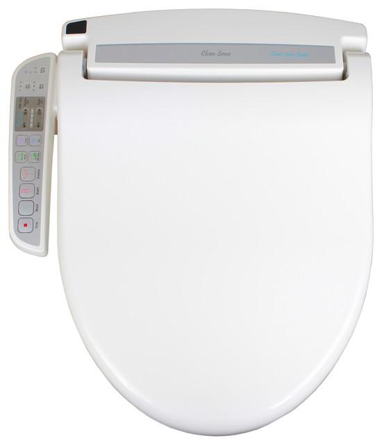 clean sense dib1500 electronic bidet toilet seat with side control panel