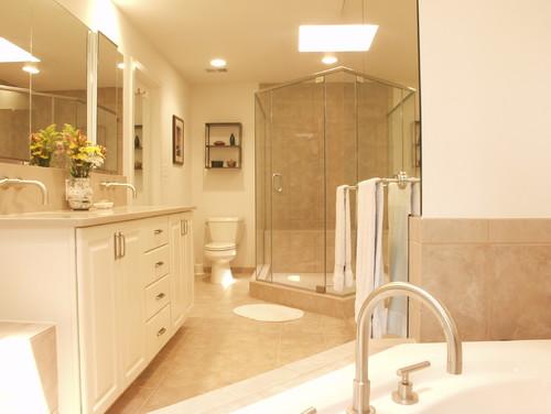 Before After Bethesda Master Bathroom Expansion - Bathroom expansion before and after