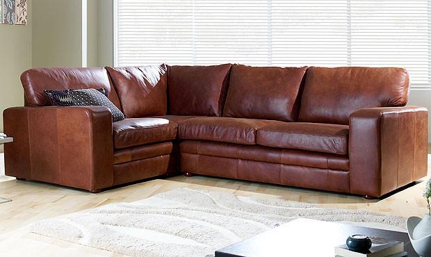 sloane leather corner sofa
