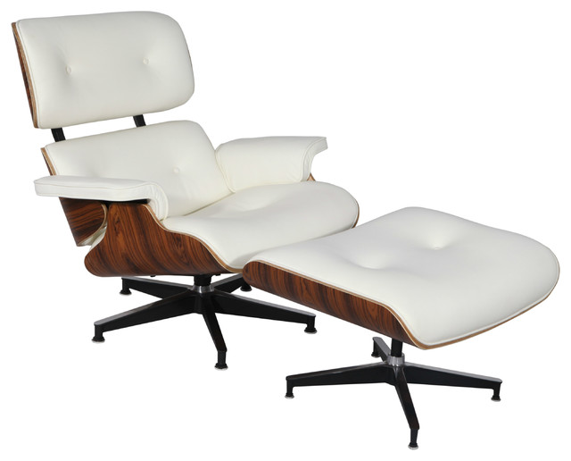 Plywood Lounge Chair Real Leather Contemporary Indoor