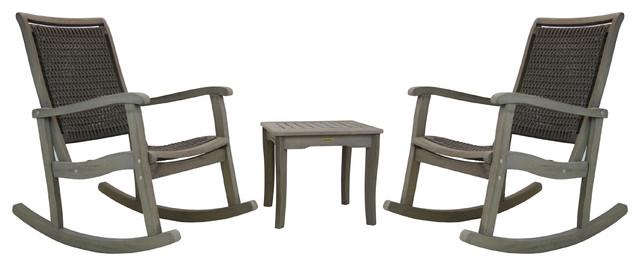 Gray Wash Eucalyptus Rocking Chair