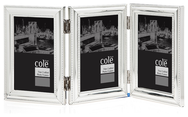 triple 4x6 silver double bead frame transitional picture frames