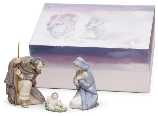 Lladro Set Silent Night Figurine