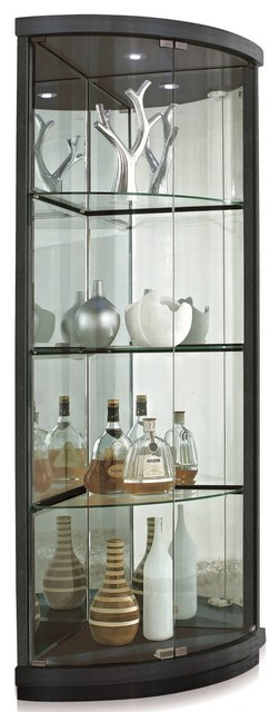Curio Corner Cabinet - Modern - China Cabinets And Hutches ...