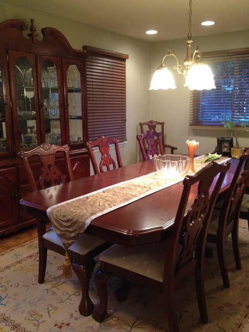 Ideas to modernize dining room set? Please