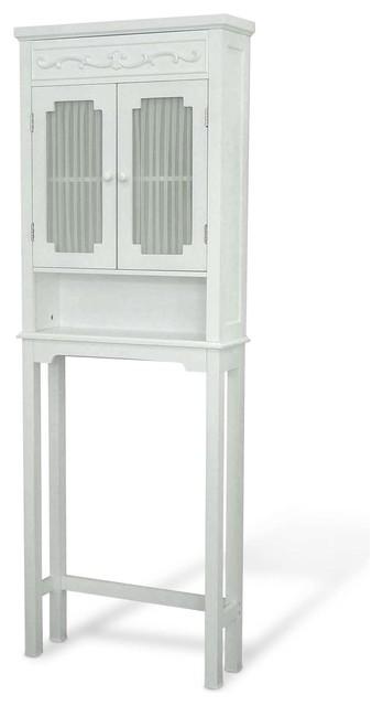 "Elegant Home Fashions Lisbon 67"" 2-Door Space Saver In White."