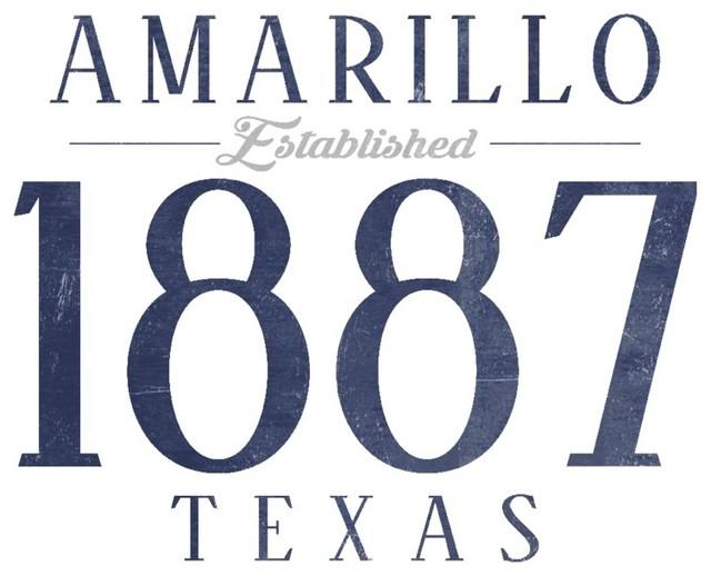 Lantern Press Quot Amarillo Texas Established Date Blue