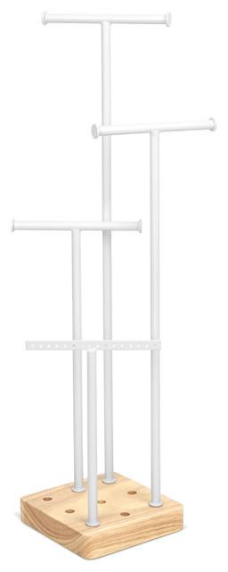 Acro Jewelry Tree White, White/Natural