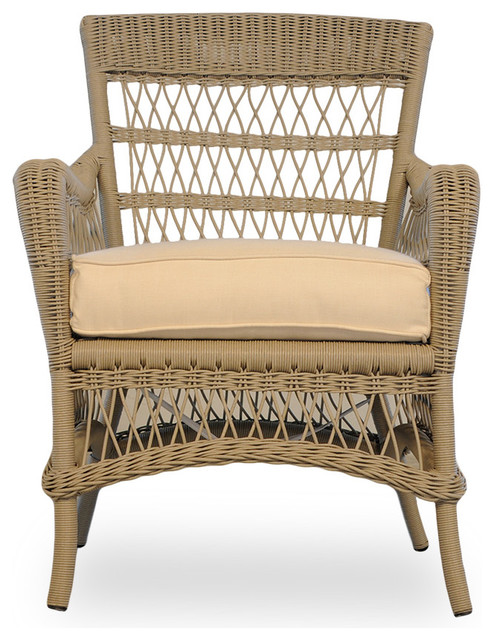 Lloyd Flanders Fairhope Dining Chair Farmhouse Outdoor Dining Chairs by