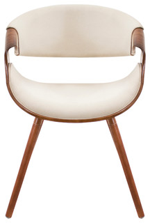 Contour Mid Century Accent Chair, Cream