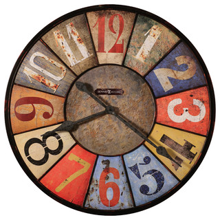 """Howard Miller County Line Wall Clock, Multi, 30"""" - Rustic - Wall Clocks - by Interior Clue"""